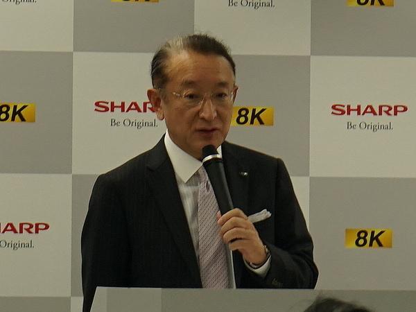 シャープ 8Kエコシステム戦略推進室長の西山博一氏