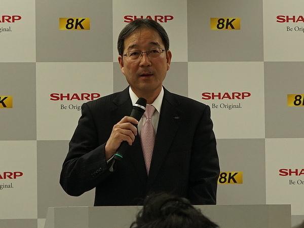 シャープ 電子デバイス事業本部長の森谷和弘氏