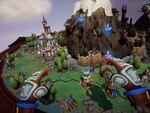 VRで壮大なジオラマを眺めつつ戦うリアルタイム戦略ゲーム「Skyworld」