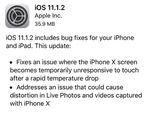 アップルiOS 11.1.2配信 iPhone Xの問題を修正