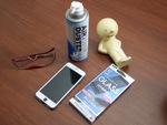 オススメの携帯保護フィルムと、ゴミなし気泡なしの便利グッズ