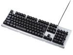 矢印キーを入れ替えられるLEDバックライト付きゲーミングキーボード