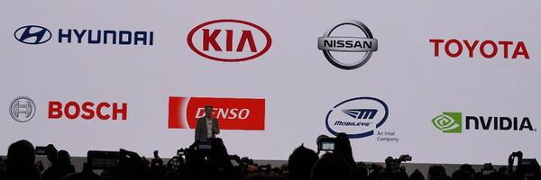 イメージセンサーを提供する自動車関連のパートナー企業