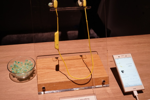ノイズキャンセリング対応ネックバンド型Bluetoothイヤフォン「WI-SP600N」は149ドル(約1万6500円)