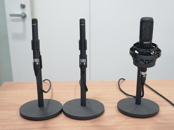 左からECM-100N、ECM-100U、C-100