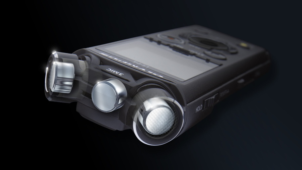 新製品の特徴である3マイクシステム「TRESMIC」