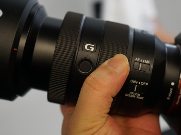 レンズのボタンを押すことで瞳AFを有効にする設定も可能