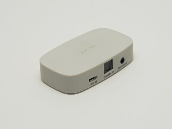 SRS-WS1は専用トランスミッターを同梱。Bluetooth接続はできない