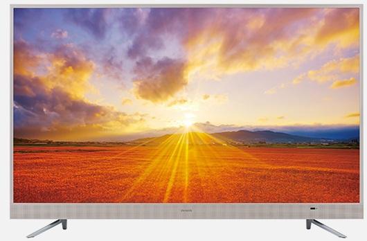 アイワ「TV-43UF10」。43/49/55V型があり、43V型は最安ベースで5万5000円程度で購入可能。オンキヨー製スピーカーを内蔵する