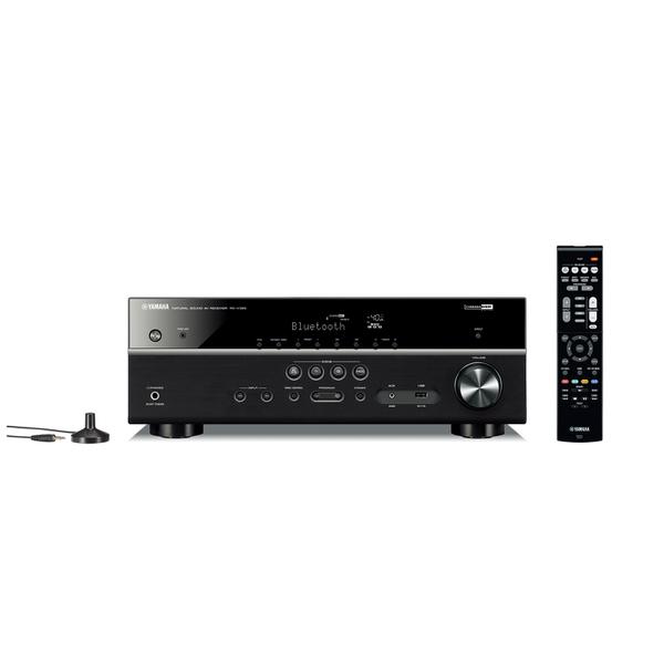ヤマハ「RX-V385」(4万8000円)。実用最大出力135W、HDMI入力4/出力1