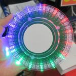 声や音楽に合わせて光が動くUFOのようなUSB給電のRGBライト