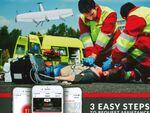 VTOL型UAS「Swift020」デモフライトにて、次世代救命アプリと連携した実動訓練を実施