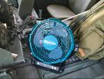 クーラーがないハンヴィー車内で使えるマキタの扇風機を買いました