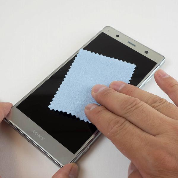 Xperia XZ2 Premiumにガラスフィルムとケースを付ける