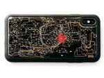 東京の路線図が発光するiPhone XS Max/XRケース