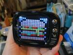 ドットアニメが表示できる! レトロテレビ風Bluetoothスピーカー