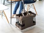 オフィスのカバン置きに使える耐荷重5kgの折りたたみボックス