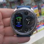 デジタルとアナログ搭載のメタルなスマートウォッチが6780円!