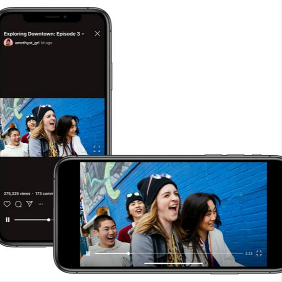 Instagramの動画アプリ「IGTV」が横表示に対応