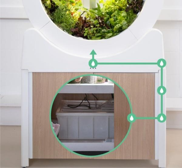 室内で野菜や果物を栽培できるドラム型家庭菜園「OGarden Smart」