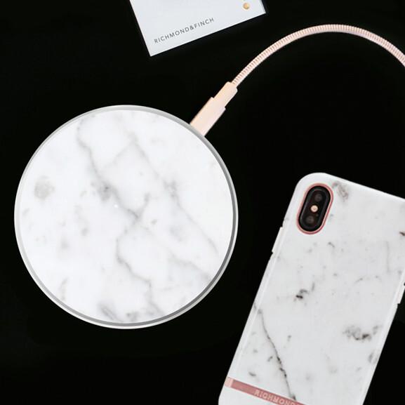 大理石調デザインの「ワイヤレス充電器 マーブル」が6300円で発売