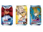 「名探偵コナン ホワイトソーダ」全6種のパッケージで登場