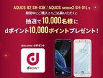 ドコモ版AQUOS購入&抽選で1万人に1万dポイントが当たる