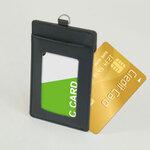 2枚のICカードを入れても改札でエラーが起きない牛革カードインパスケース
