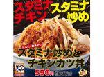 【本日発売】かつや「スタミナ炒めとチキンカツ」