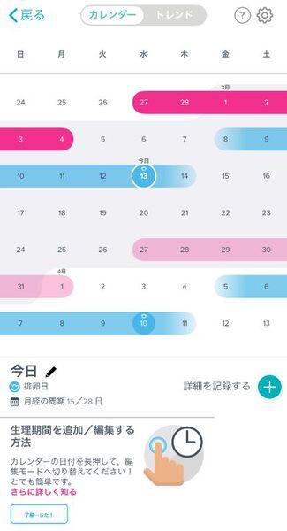 周期 カレンダー 妊娠