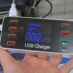 QC3.0対応&8ポート搭載のチェッカー付きUSB充電器