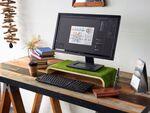デスク上のスペースを有効活用できる芝生のデスクトップスタンド