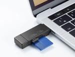 携帯しやすい小型のSD/microSDカードリーダー、サンワサプライより