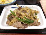 松屋「牛肉と筍のオイスター炒め定食」 の安心感