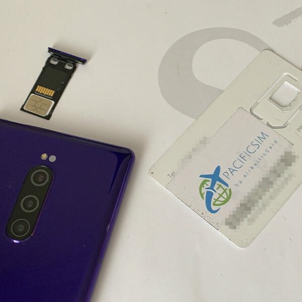 世界ローミングSIMの「airBalticcard」をXperia 1で使う方法
