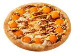 ピザハット「月見ピザ」熟卵黄風ソースとろとろ