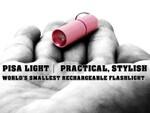 単4電池より小さい! 世界最小クラスの充電式ライト「PISA light」