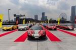 横浜に100台のフェラーリが集合! 超レアモデルから懐かしのフェラーリまで!