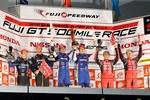 SUPER GT第5戦富士500Mileは奇策で87号車ランボが優勝!