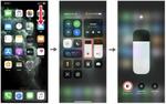 iPhoneのコントロールセンターから「ダークモード」を有効にする