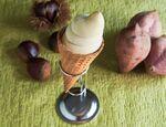 ローソン「和栗と安納芋のワッフルコーンアイス」