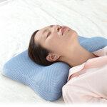 いびき対策のために開発された形状「イビピタン枕」