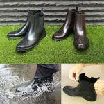 足の保温にも優れた完全防水ウイングチップビジネスブーツがお得に買える!