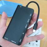 Type-CポートからGbEにHDMI、D-sub、SDカードリーダーまで! 8in1仕様の多機能ハブが4000円強
