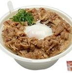 セブン「肉盛り!甘辛つゆの肉玉蕎麦」