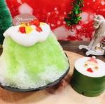 くら寿司、クリスマス風かき氷とケーキ