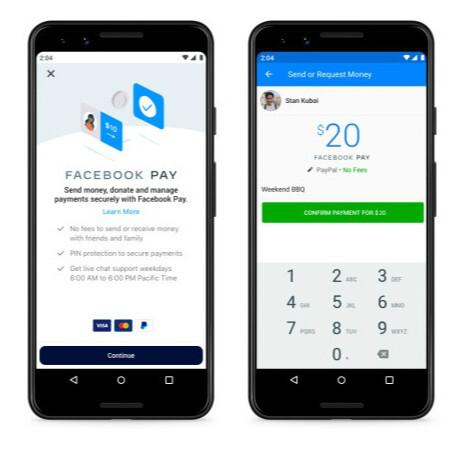 Facebookが決済機能を追加しアメリカで提供開始