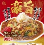 大阪王将「肉あんかけフカヒレ炒飯」