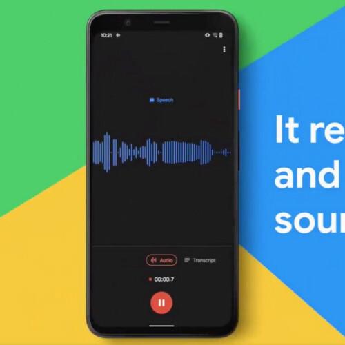 Google、文字起こし可能な「レコーダー」アプリをPixel 3にも提供