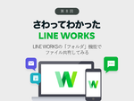 LINE WORKSの「フォルダ」機能でファイル共有してみる